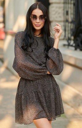 Oversizowa sukienka mini 0299 R80