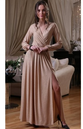 *Roco 0227 sukienka beżowa