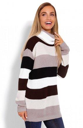 PeekaBoo 40012 sweter golf brązy