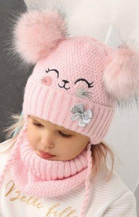 AJS 42-423 czapka i golf dziecięcy