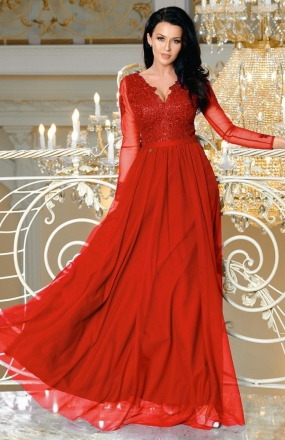 Bicotone 2167-02 sukienka czerwona