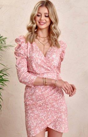*Ołówkowa sukienka w kwiaty 0329/L01