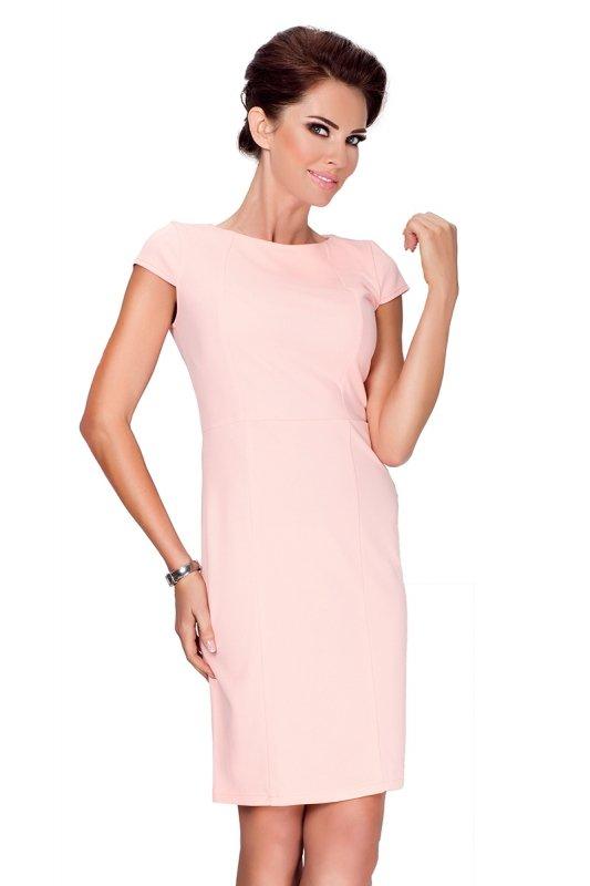 SAF 37-1 sukienka brzoskwiniowa