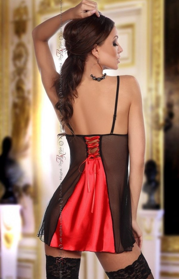 Beauty Night Michele chemise red komplet tył