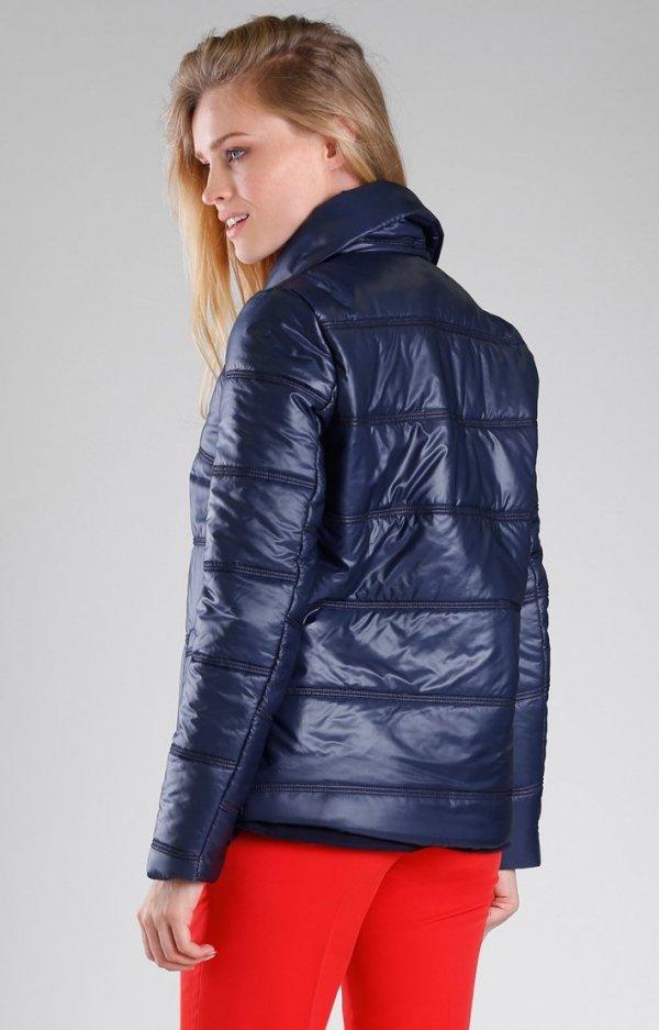 Granatowa pikowana kurtka NA082LP-2