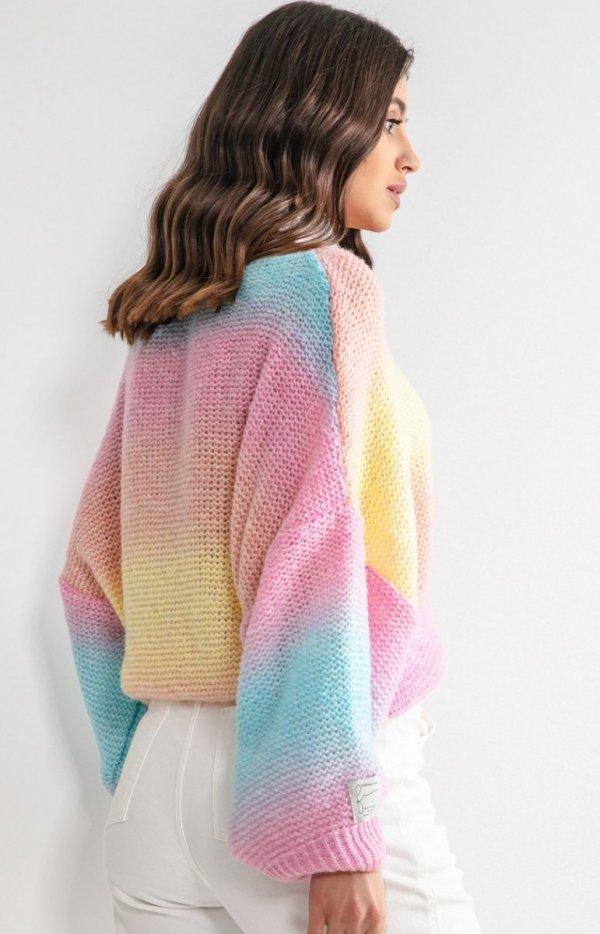 Pastelowy oversizowy sweter bali F1162 tył