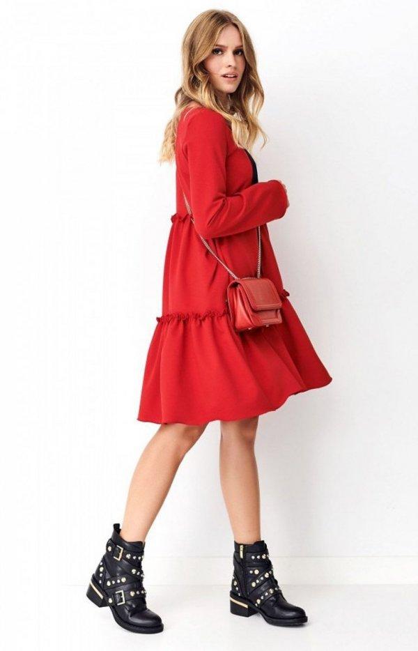 Dzianinowa sukienka rozkloszowana NU269-1