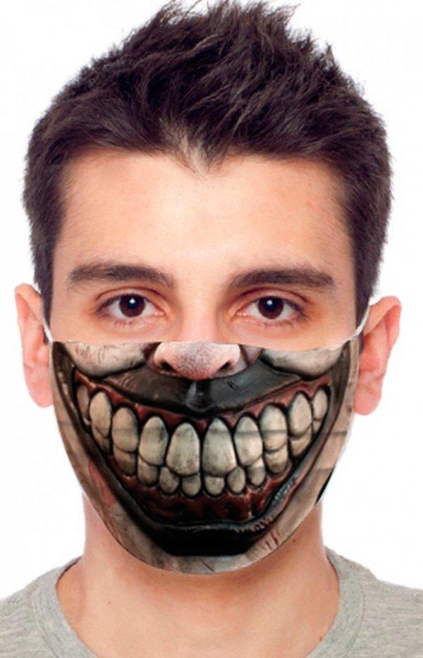 Maseczka ochronna upiorny uśmiech
