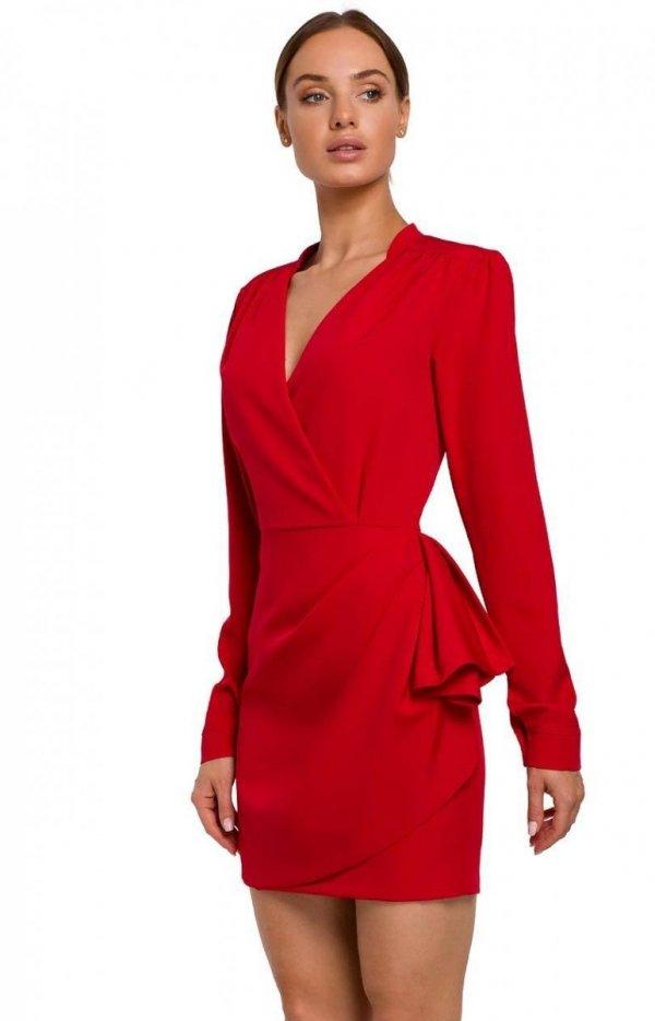 Elegancka mini sukienka z falbaną M531