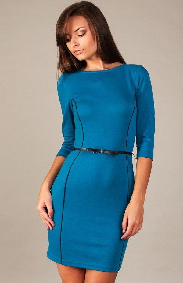 Vera Fashion Pola sukienka chabrowa