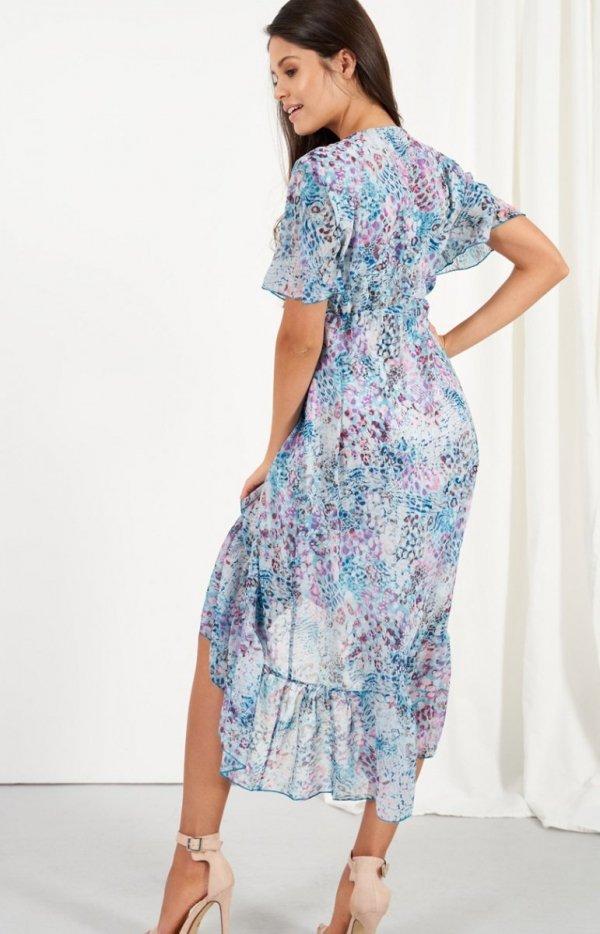 Zwiewna asymetryczna sukienka maxi LG523/D14 tył
