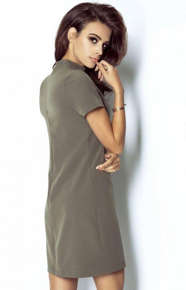 Ivon 204 Elena sukienka khaki tył