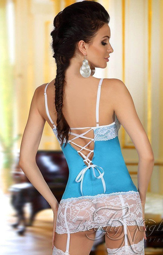 Beauty Night Shirley chemise light blue komplet