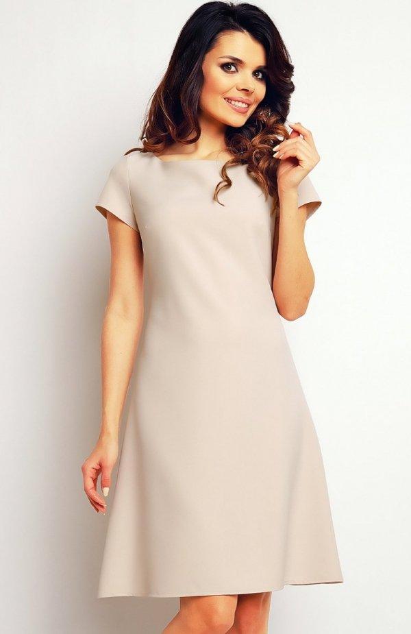 Infinite You M086 sukienka beżowa