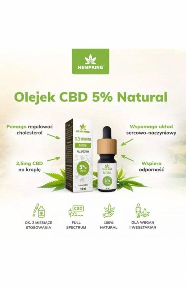 HempKing Olej konopny CBD Natural 5%-2