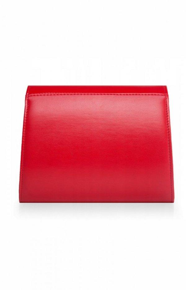 Czerwona kopertówka damska D5 tył