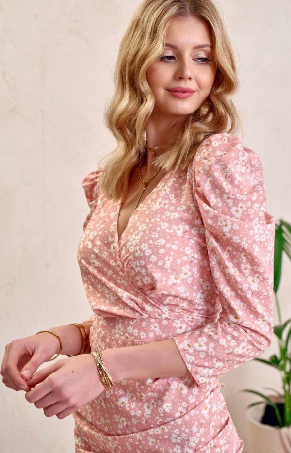 Ołówkowa sukienka w kwiaty 0329/L01-1