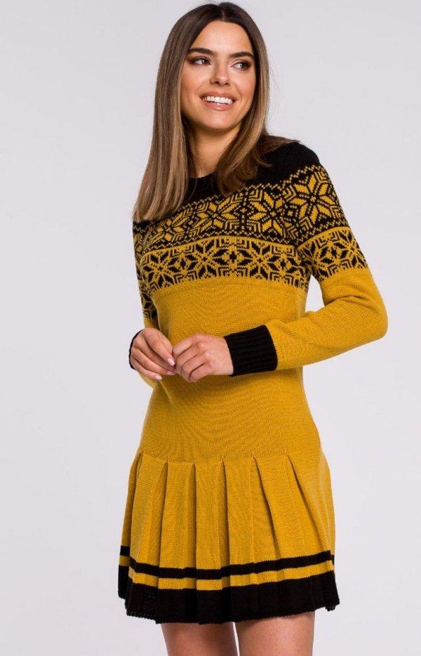 Sweterkowa sukienka świąta MXS01