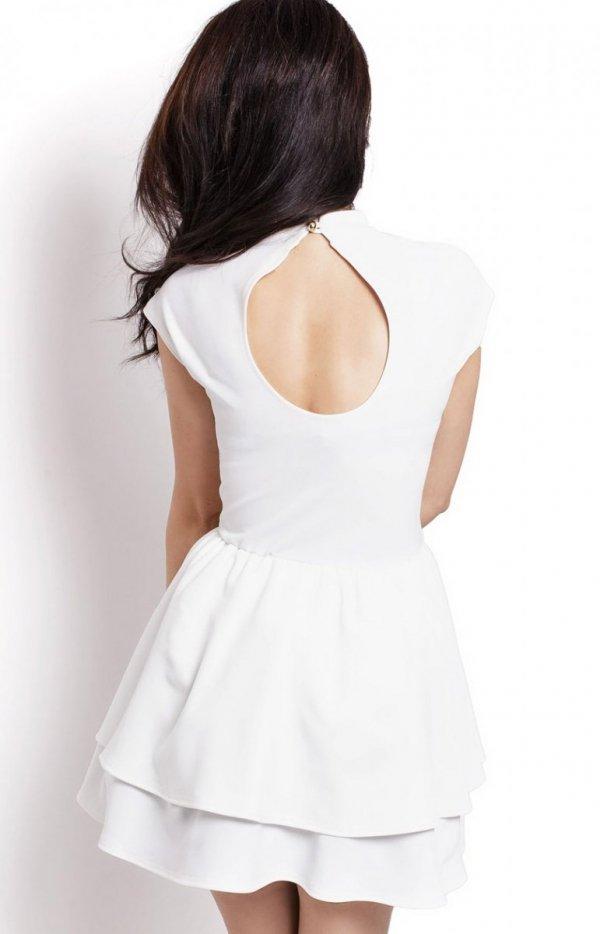 Ivon 200 sukienka biała tył