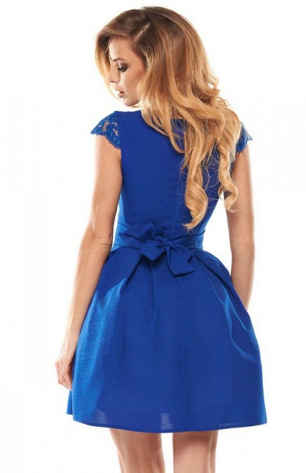 Bicotone 2139-05 sukienka chabrowa tył