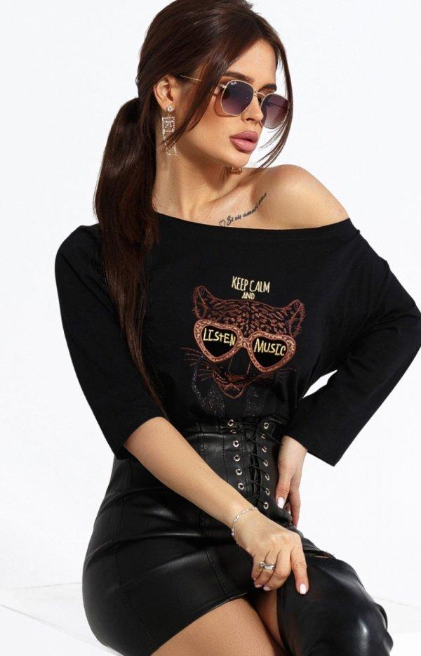 Kobieca bluzka z tygrysem 102-06-1