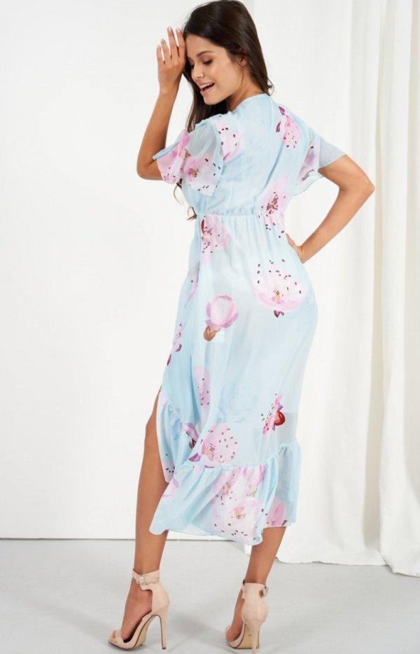 Zwiewna asymetryczna sukienka maxi LG523/D18 tył