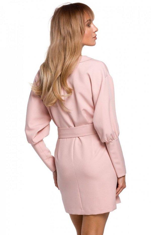 Stylowa sukienka z paskiem M501 tył