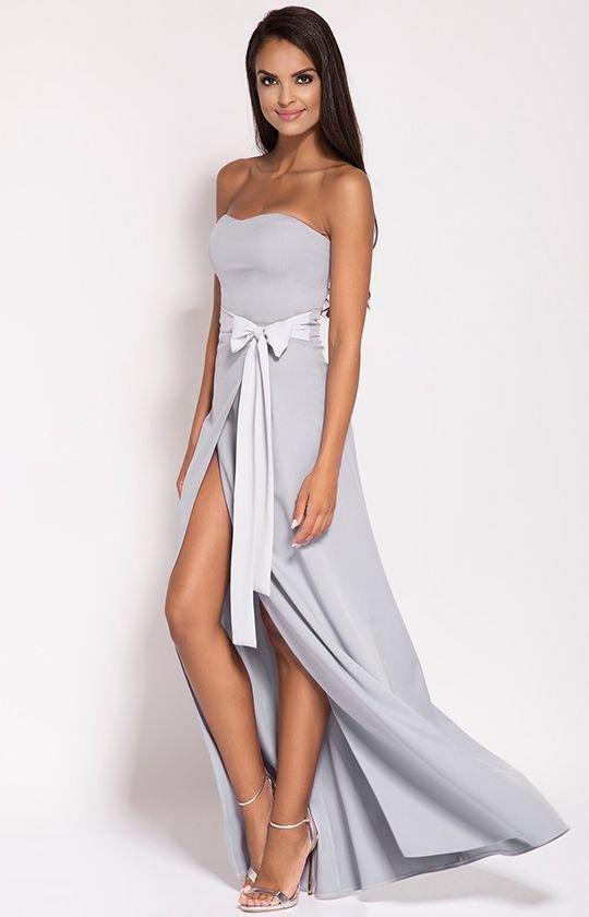 4067dfbc09 Dursi Lorica sukienka szara - Sukienki wieczorowe - Długie sukienki ...