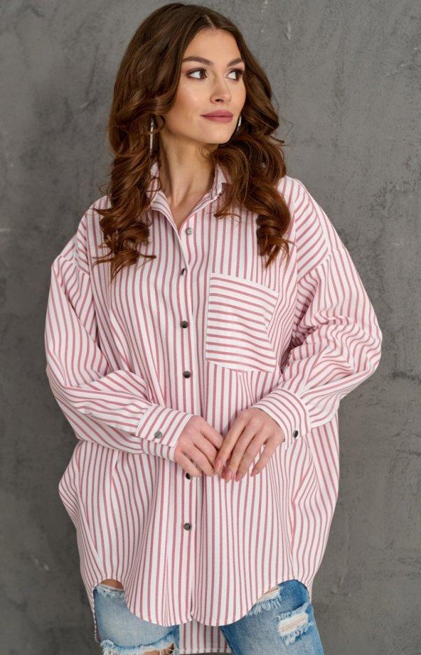 Oversizowa koszula w paski 0104 C2C-1