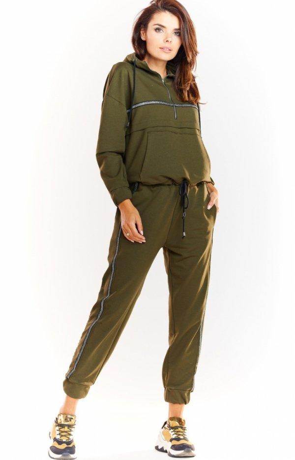 Sportowe spodnie khaki M231-1