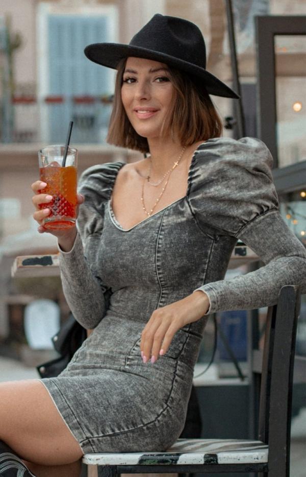 Sukienka ołówkowa denim black-1
