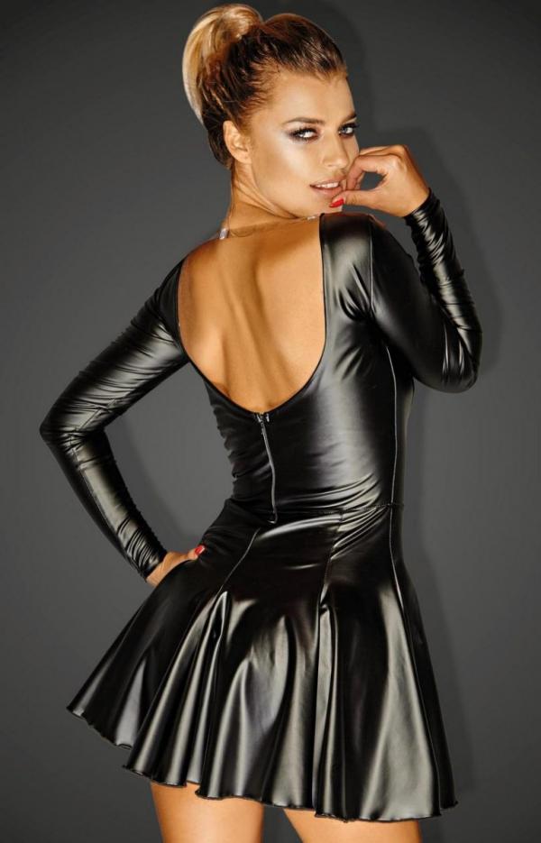Mini sukienka erotyczna F124 tył