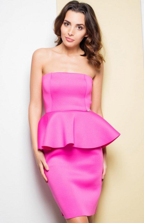 Katrus K283 sukienka różowa