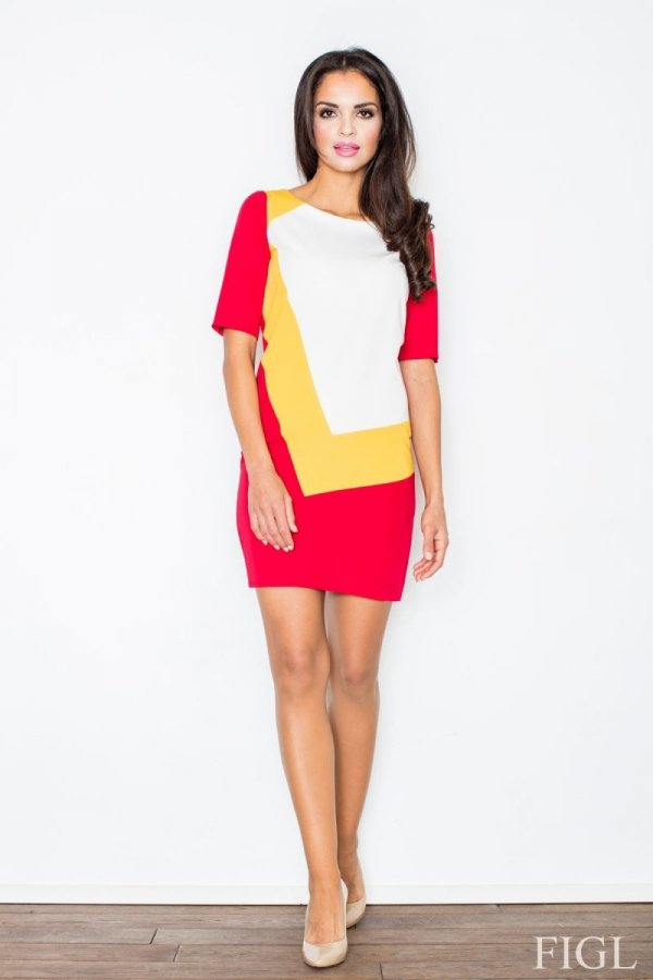 Figl M118 sukienka czerwona