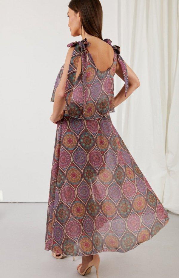 Asymetryczna sukienka maxi LG548/D20 tył