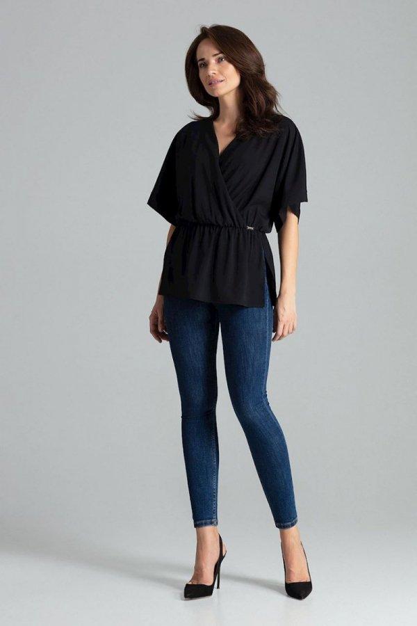 Oversizowa bluzka czarna L063-1