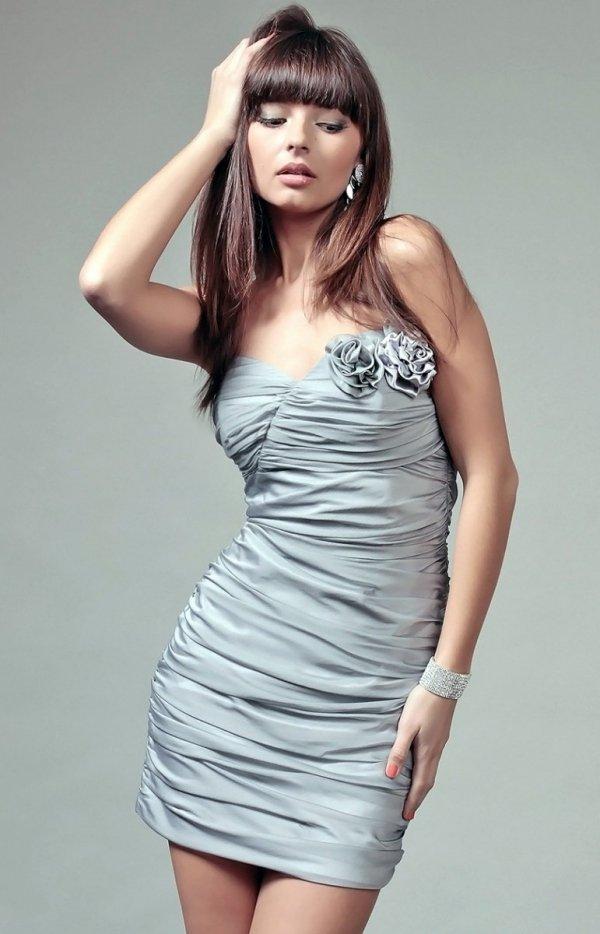 Vera Fashion Brigitte sukienka srebrna