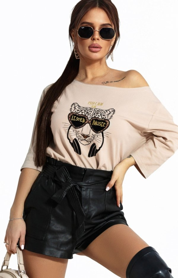 Kobieca bluzka z tygrysem 102-21-1