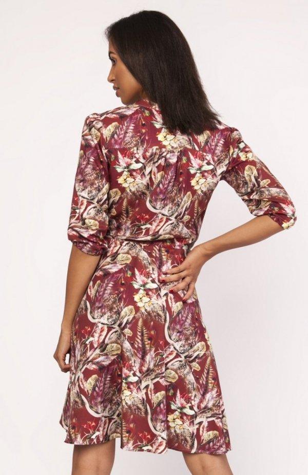 Sukienka o rozkloszowanym dole wzór SUK155 tył