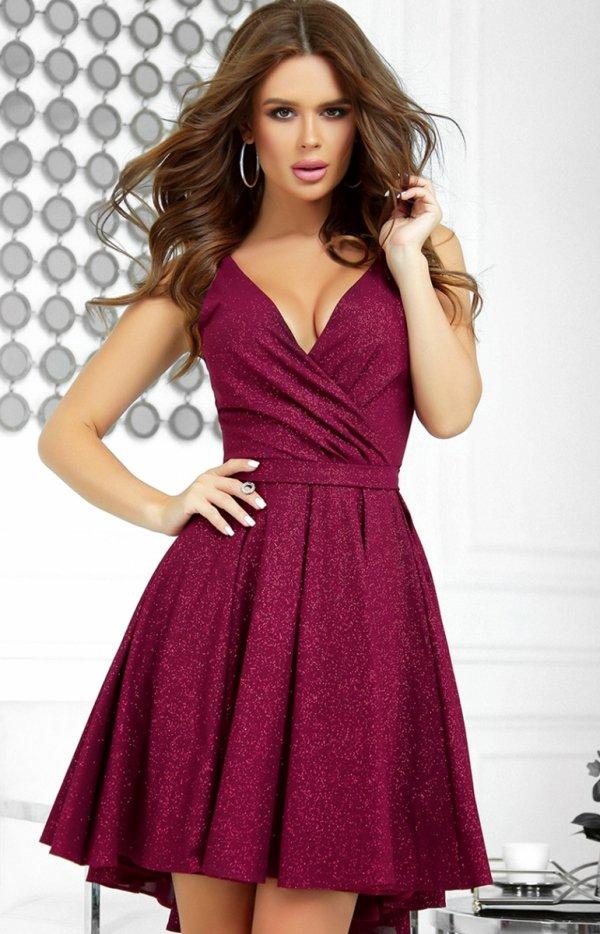 Elegancka błyszcząca sukienka 2215-10