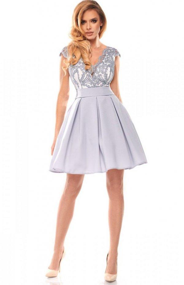Bicotone 2139-31 sukienka szara