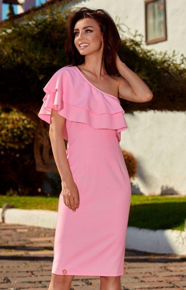 Lemoniade L254 sukienka pudrowy róż
