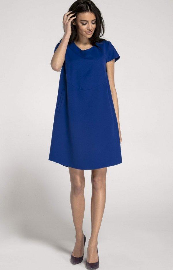 Oversizowa casualowa sukienka kobaltowa NA1003_1