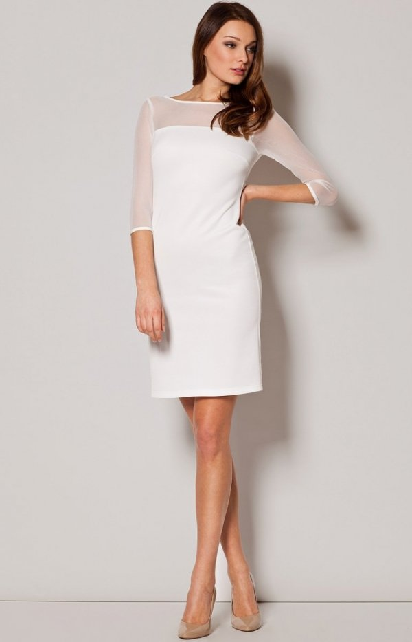 Figl M237 sukienka ecru