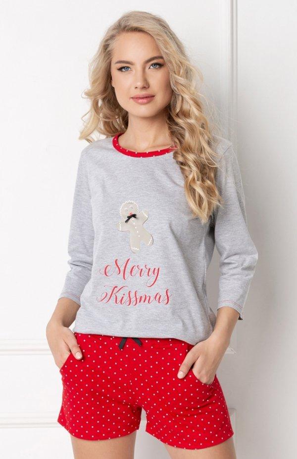 Aruelle Cookie Short Grey-Red piżama