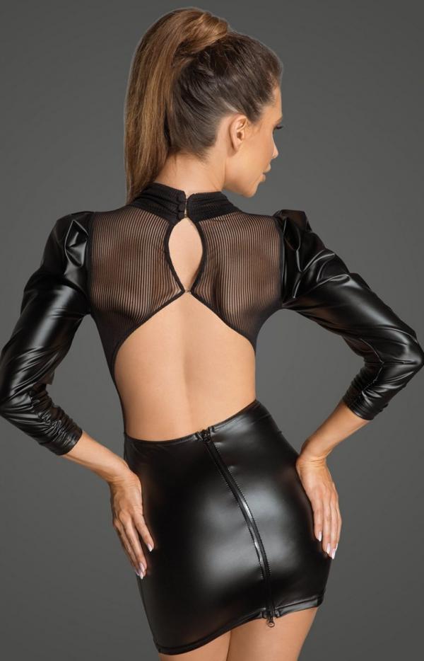 Sukienka erotyczna PCV F201 tył