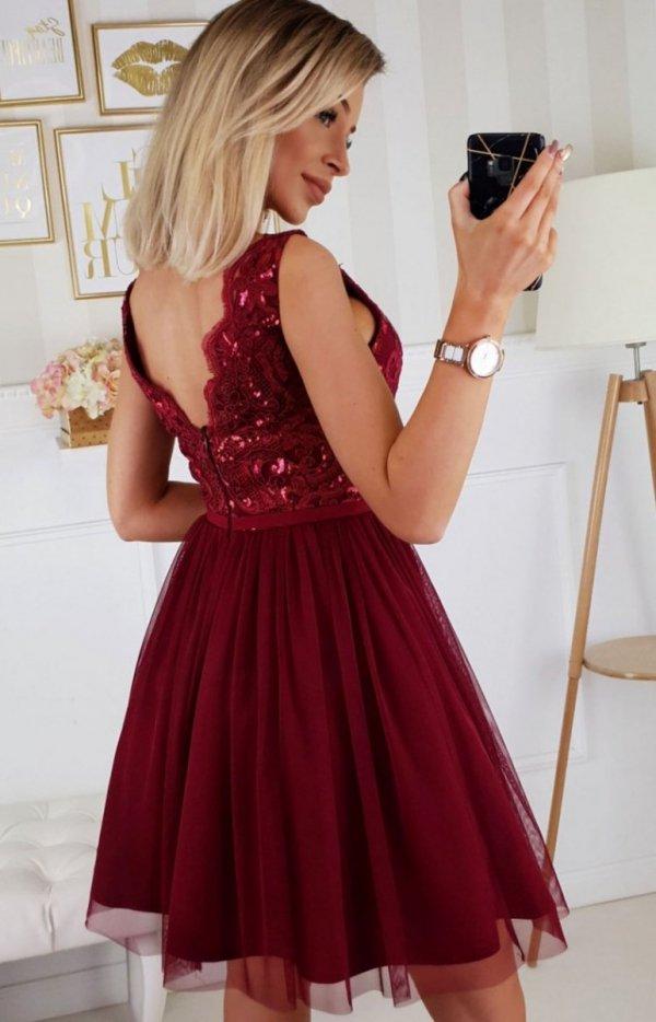 Rozkloszowana sukienka koronką Bicotone 2206-10