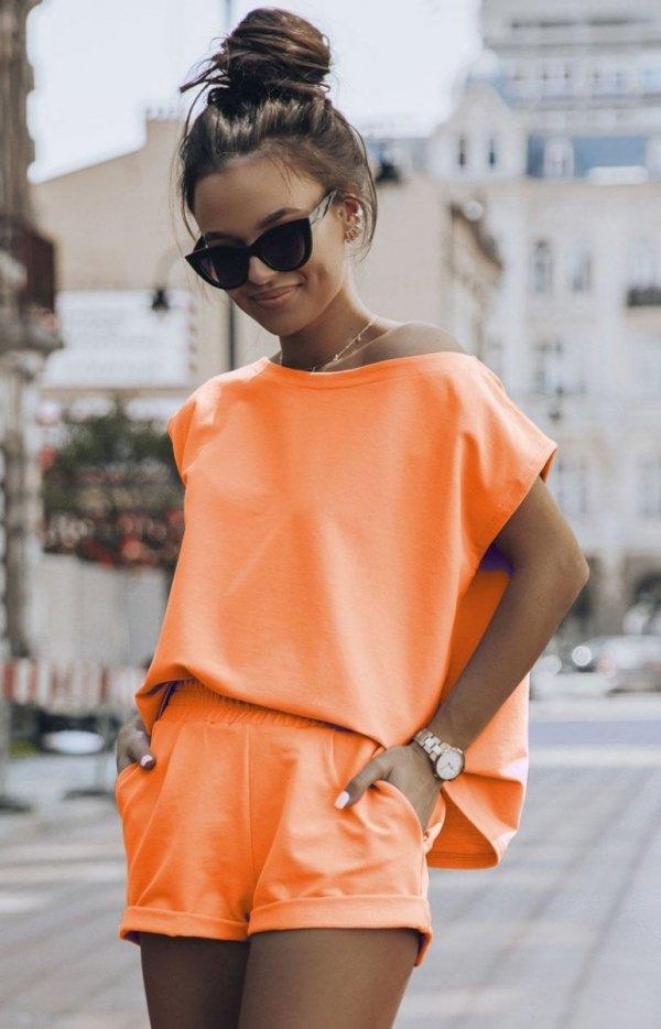 Komplet dresowy Comfort pomarańczowy-1