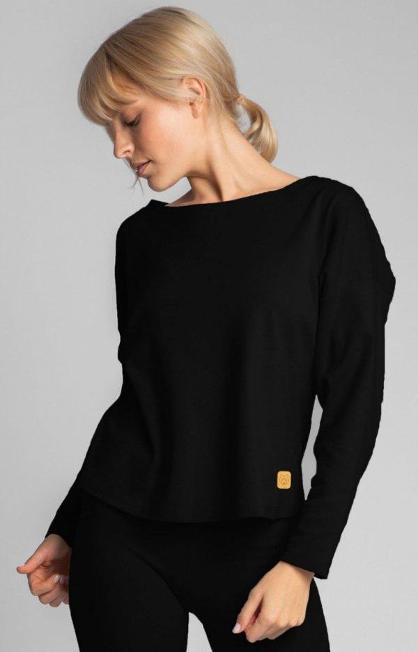 Bawełniana bluza damska czarna LA037