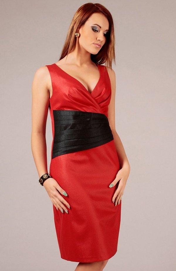 Vera Fashion Oriana sukienka czerwona